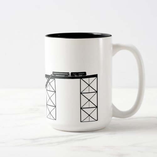 Train Wreck Two_Tone Coffee Mug
