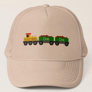 Train yellow trucker hat