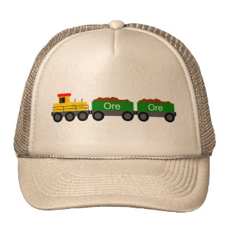 Train yellow trucker hat