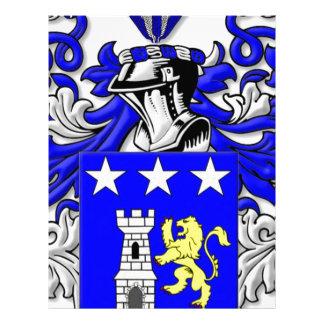 Traina Coat of Arms Personalized Letterhead
