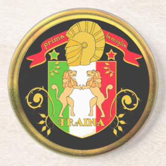 Traina Family Crest Drink Coasters
