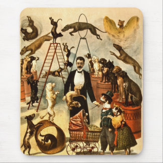 Trained Dog Act 1899 - Vintage Circus Act Poster Mousepads