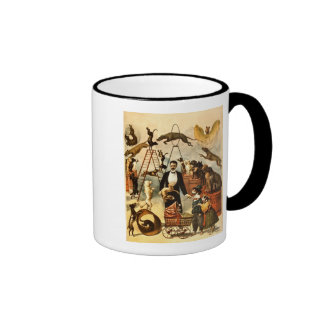 Trained Dog Act 1899 - Vintage Circus Act Poster Ringer Mug