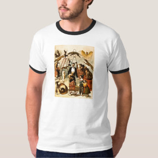 Trained Dog Act 1899 - Vintage Circus Act Poster T-Shirt
