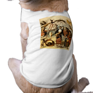Trained Dog Act 1899 - Vintage Circus Act Poster Tee