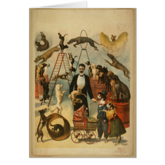 Trained Dog Act - Vintage Dog Circus Cards