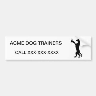 Trained Dog Car Bumper Sticker