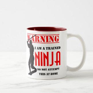 Trained Ninja Two-Tone Coffee Mug