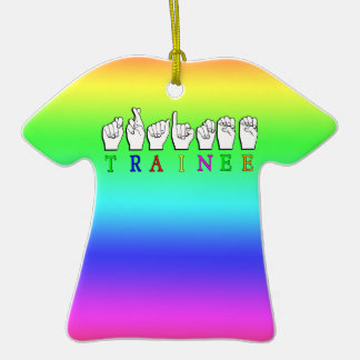 TRAINEE  ASL FINGERSPELLED NAME SIGN CHRISTMAS ORNAMENT