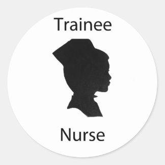 trainee nurse classic round sticker