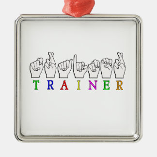 TRAINER  ASL FINGERSPELLED NAME SIGN CHRISTMAS TREE ORNAMENTS