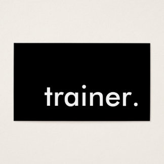 trainer. (color customizable) business card