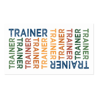 Trainer Cute Colorful Double-Sided Standard Business Cards (Pack Of 100)