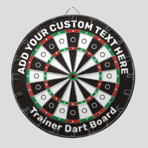 Trainer Dartboard with custom text