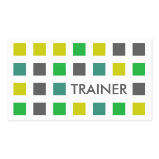 TRAINER (mod squares) Business Card