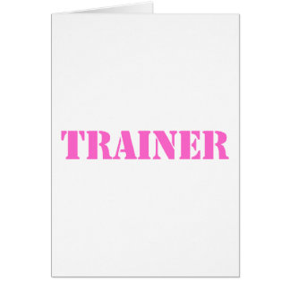 Trainer (pink) greeting card
