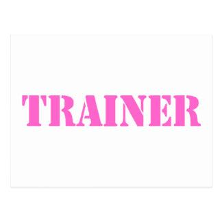 Trainer (pink) postcard