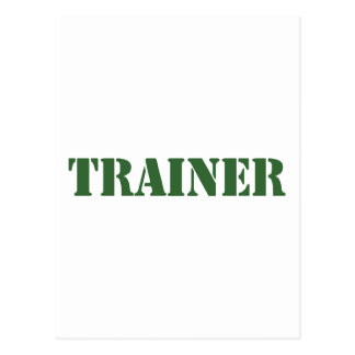 Trainer Postcard