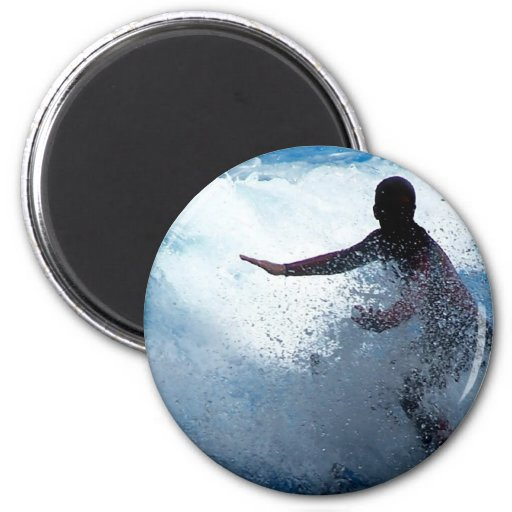 Trainer riding on killer whale orca photograph 2 inch round magnet