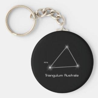Traingle constellation keychain