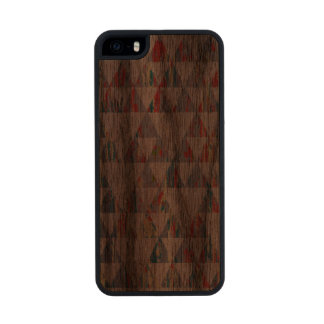 Traingulos in wood wood phone case for iPhone SE/5/5s