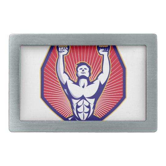 Training Athlete Rings Retro Belt Buckle
