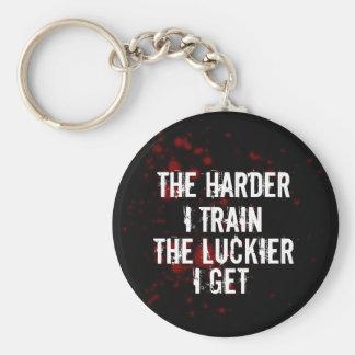 Training Basic Round Button Keychain