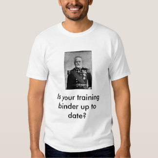 Training binder t shirt