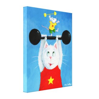 Training Cat & Mouse Canvas Painting wrappedcanvas