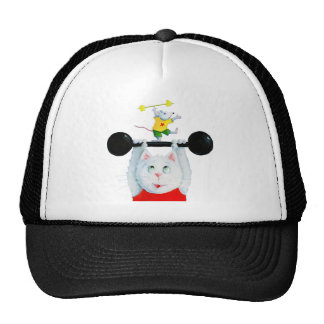 Training Cat & training Mouse Cap Mesh Hats