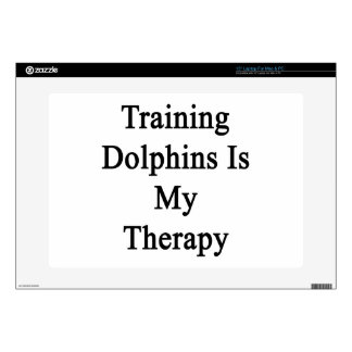 """Training Dolphins Is My Therapy 15"""" Laptop Decal"""