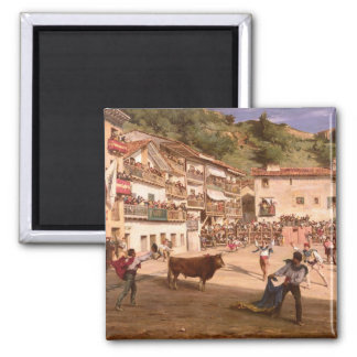 Training Fight in Biscay, 1869 2 Inch Square Magnet