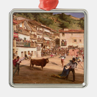 Training Fight in Biscay, 1869 Metal Ornament