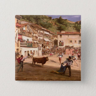 Training Fight in Biscay, 1869 Pinback Button