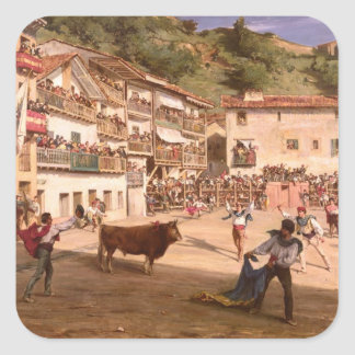 Training Fight in Biscay, 1869 Square Sticker