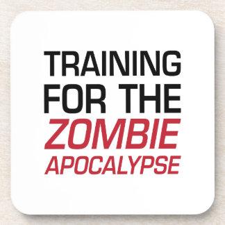 Training for the Zombie Apocalypse Beverage Coaster