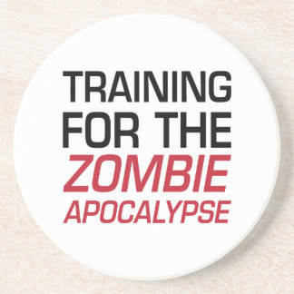 Training for the Zombie Apocalypse Drink Coaster