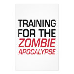 Training for the Zombie Apocalypse Stationery