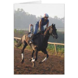Training in the morning - Life of a race horse Card