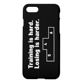 Training is hard Losing is harder iPhone 8/7 Case