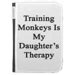 Training Monkeys Is My Daughter's Therapy Kindle Folio Case
