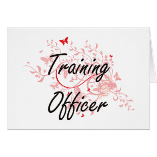 Training Officer Artistic Job Design with Butterfl Card