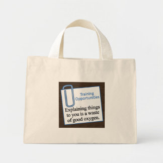 Training Opportunities Mini Tote Bag