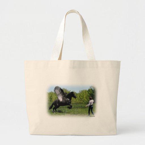 Training Pegasus Jumbo Tote Bag