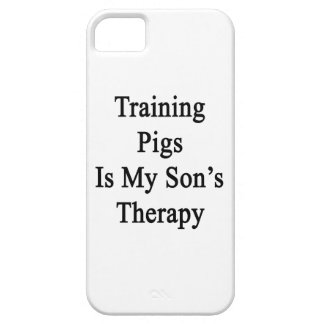 Training Pigs Is My Son's Therapy iPhone 5 Cases