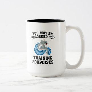 Training Porpoises Two-Tone Coffee Mug