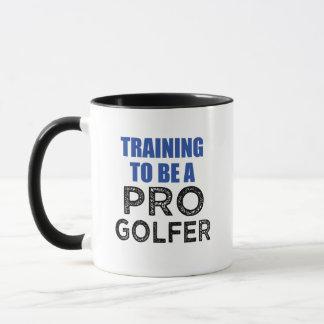 Training to be a Pro Golfer coffee mug