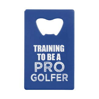 Training to be a Pro Golfer funny bottle opener