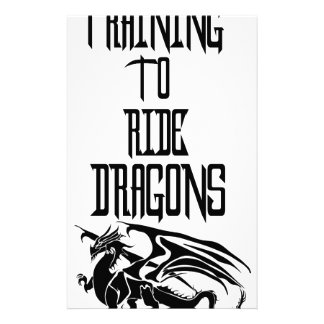 Training To Ride Dragons Stationery