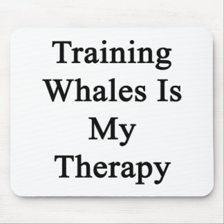 Training Whales Is My Therapy Mouse Pad